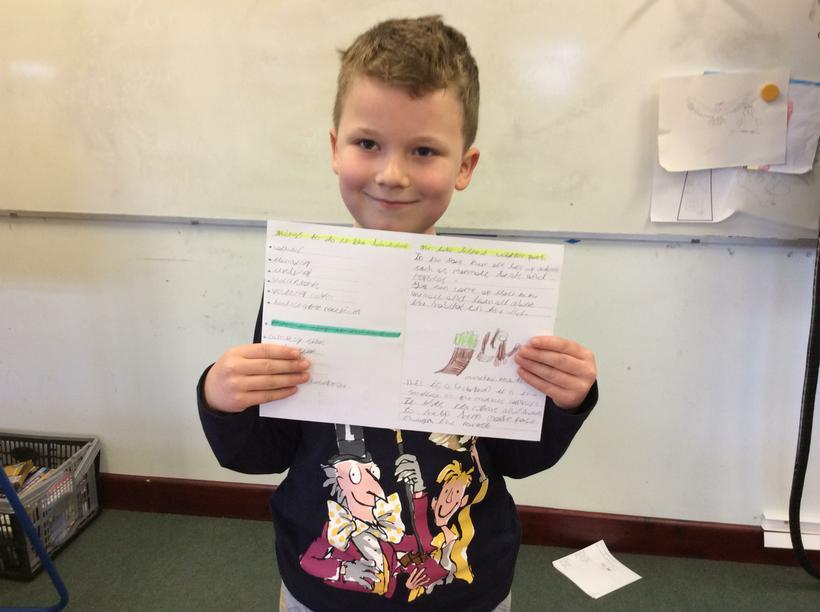 Reuben's information booklet.