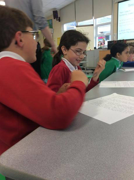 Brainstorming ideas in pairs
