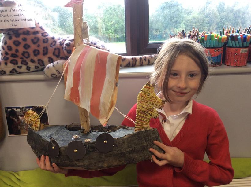 Ellicole's superb dragon ship.