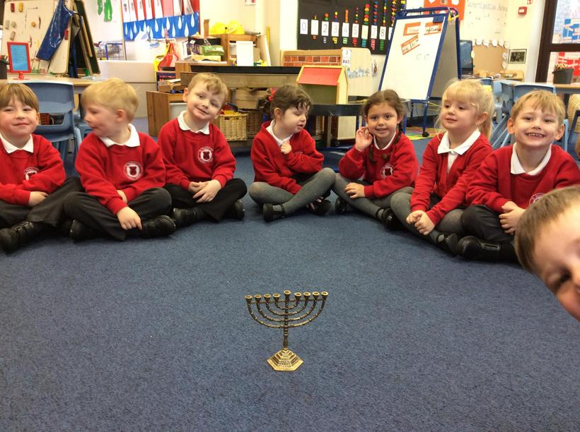 We looked at different religious objects.