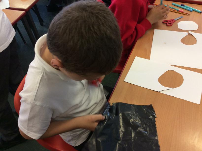 Starting to make our parachutes.