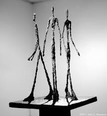 Giacometti's figure sculptures