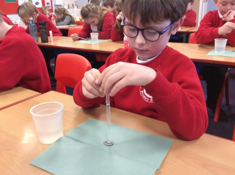Controlling water drops with a pipette