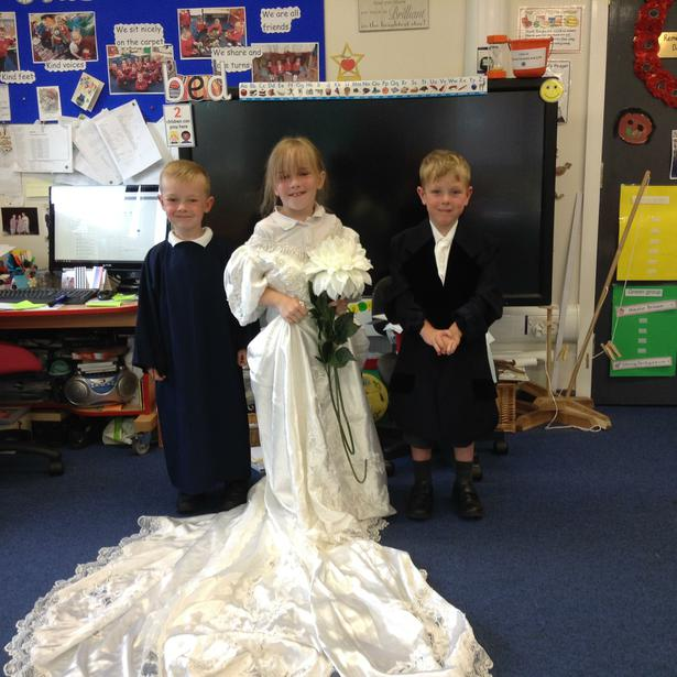 Bride and Groom and the Vicar