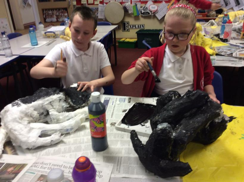 Liam and Katie painting