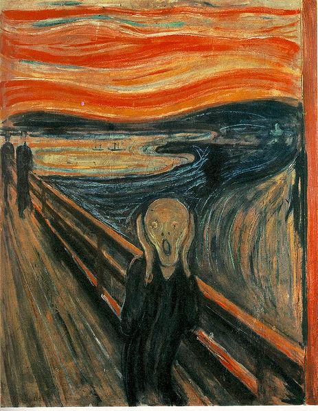 'The Scream'  Edvard Munch, Expressionist painter