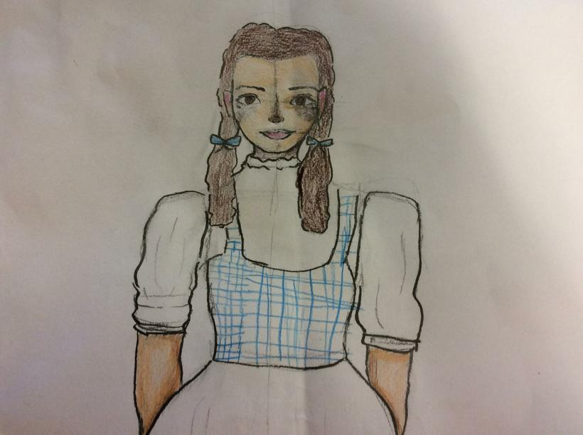 Preparatory sketch for Dorothy