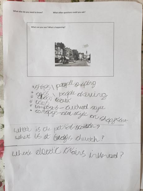 Jude completed an enquiry map