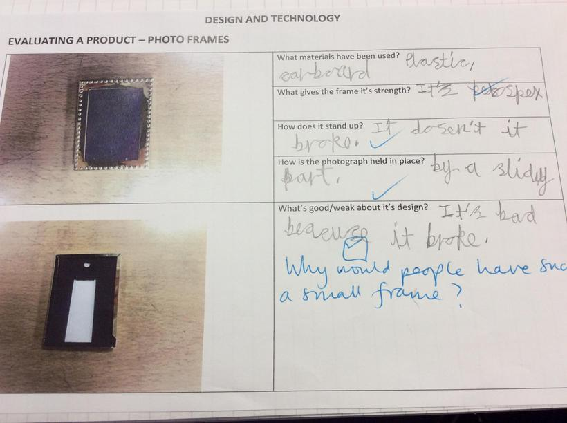 Our evaluations of frames