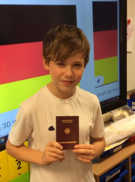 We got to see a German passport too!