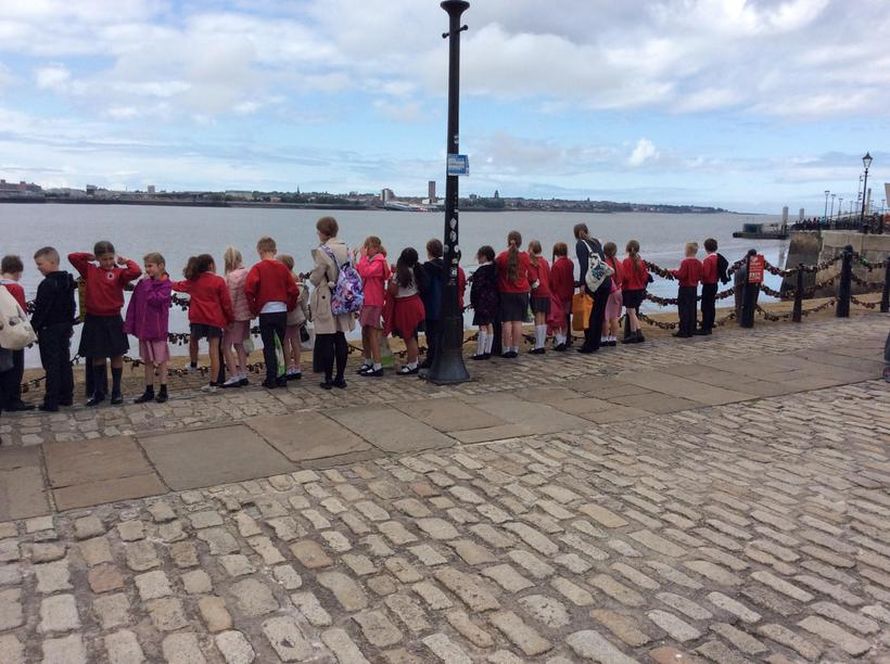Looking at the river Mersey