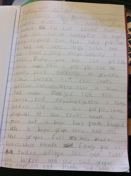 Jade's story for Handa's Surprise