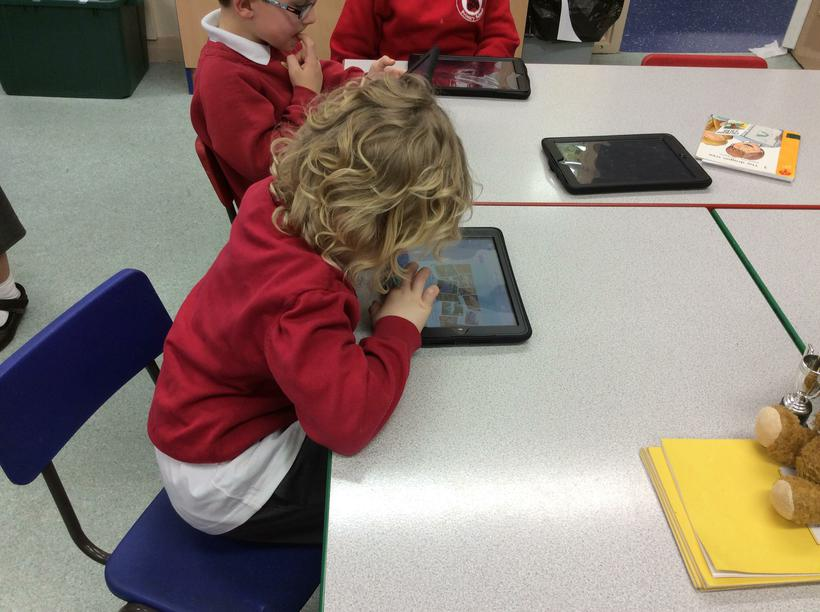 We read ebooks on the iPad.