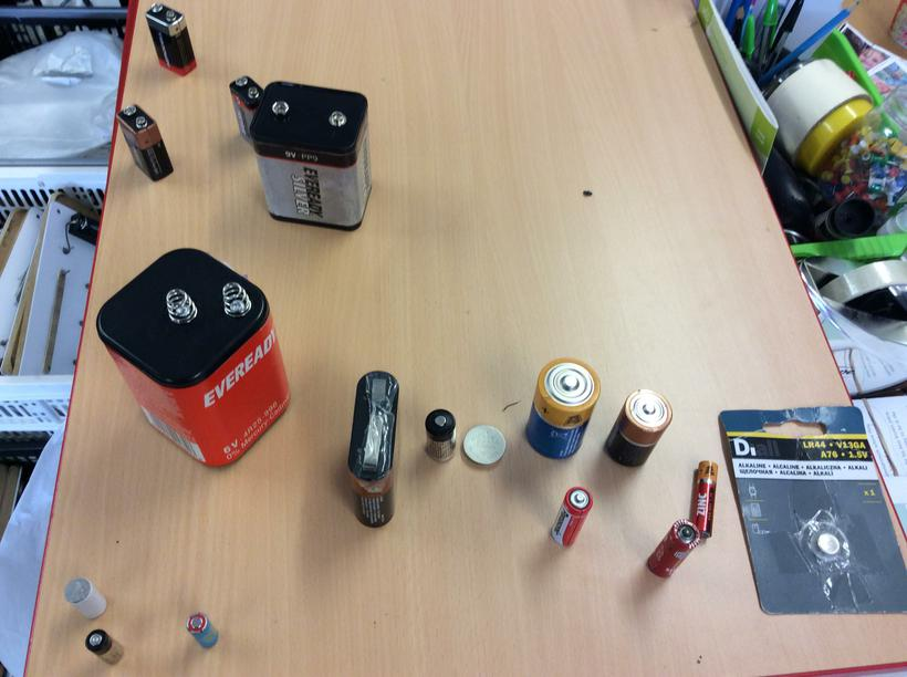 Lots of different cells and batteries.