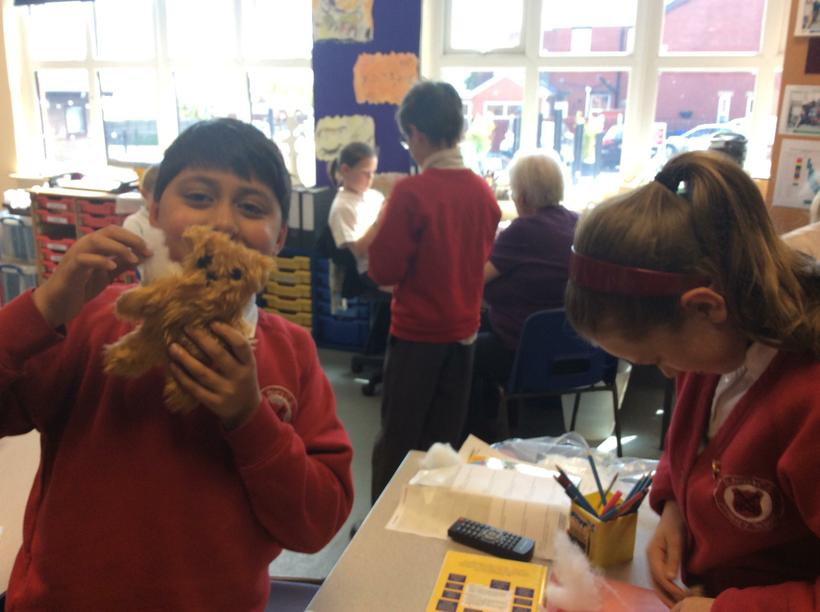 Stuffing our bears!