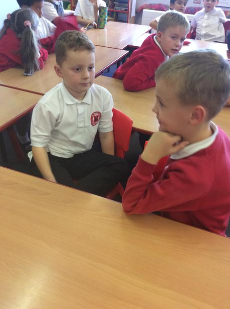 We practised speaking to one another.