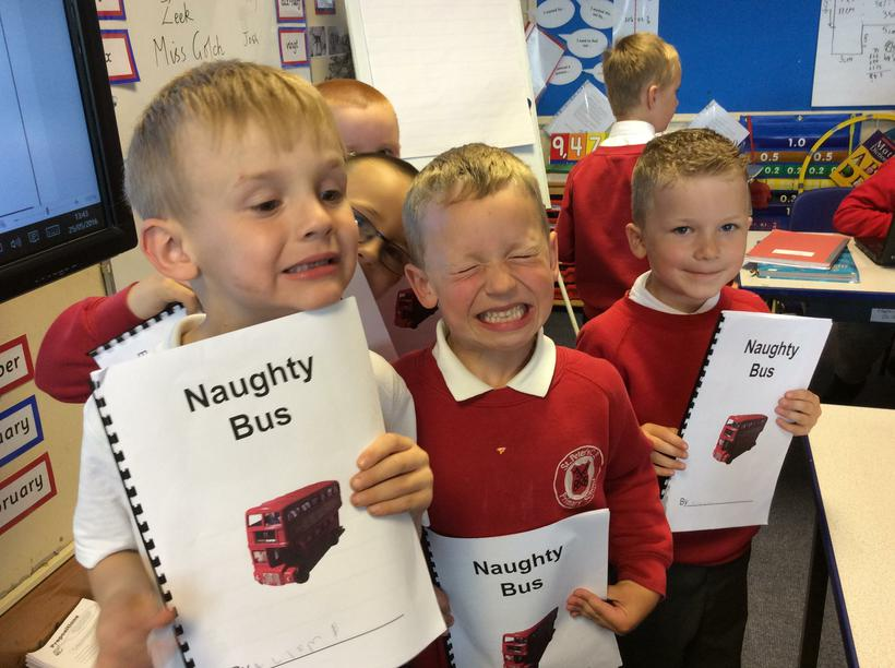 The boys were inspired by the book 'Naughty Bus'