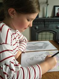 A truly talented 'artist in residence' at home.