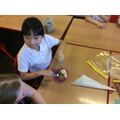 We used our 'teeth' to chew up our food