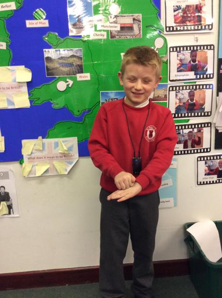 Connor teaching us to sign 'Happy Christmas'.