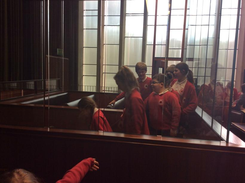 We visited the holding cells.