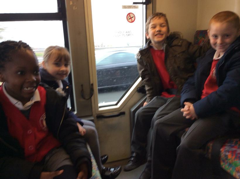 Enjoying the bus journey.