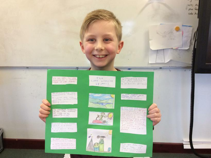 Lewis' fact poster.