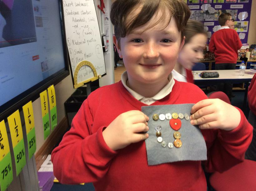 Practical focused task - to sew on a button