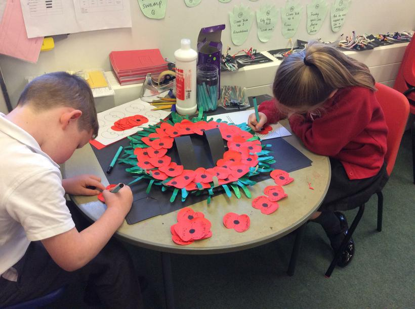 In memory of.....writing our poppies