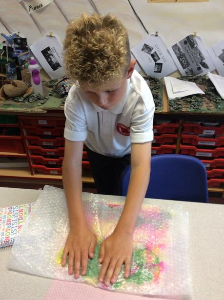 5. Rub and let friction knit the fibres