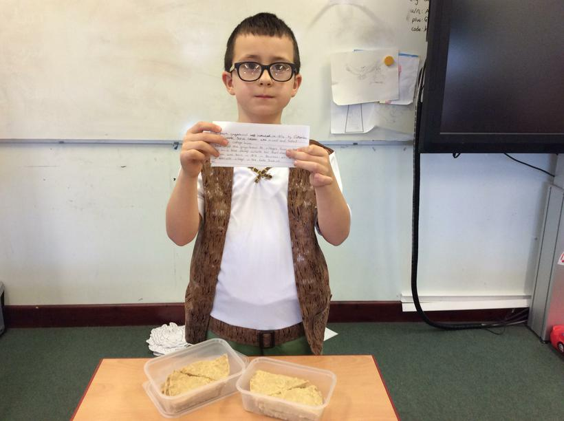 Harry's Grasmere gingerbread and facts.