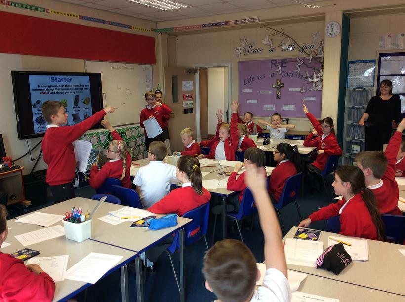 Y6 leading the lesson