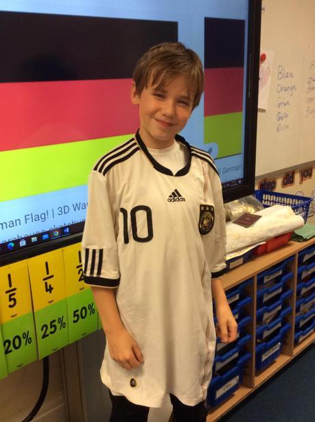 The national footballl shirt of Germany.