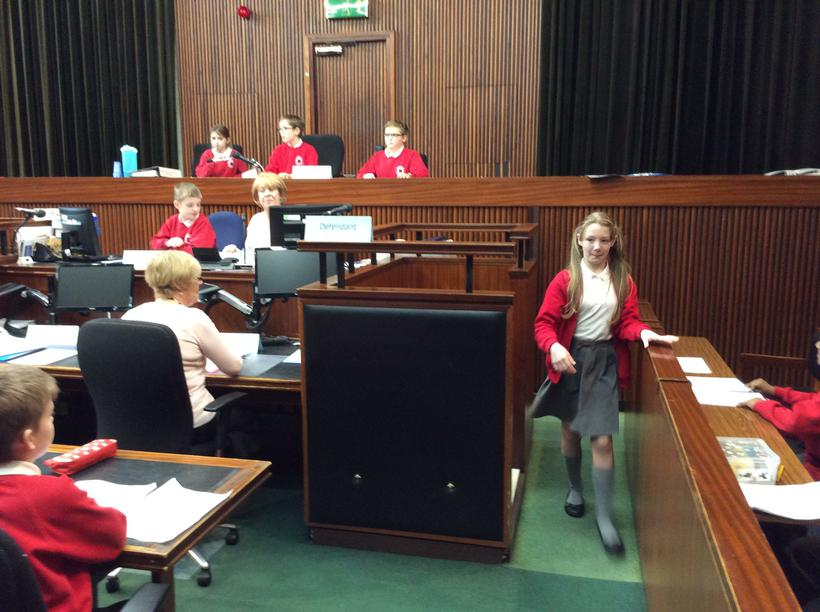 The Court Usher brought in witnesses
