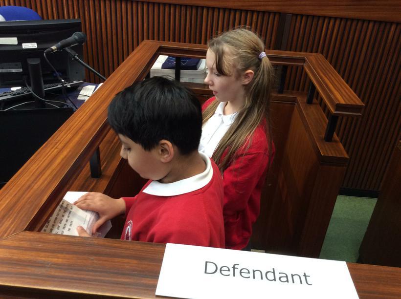 The Defendant defends himself