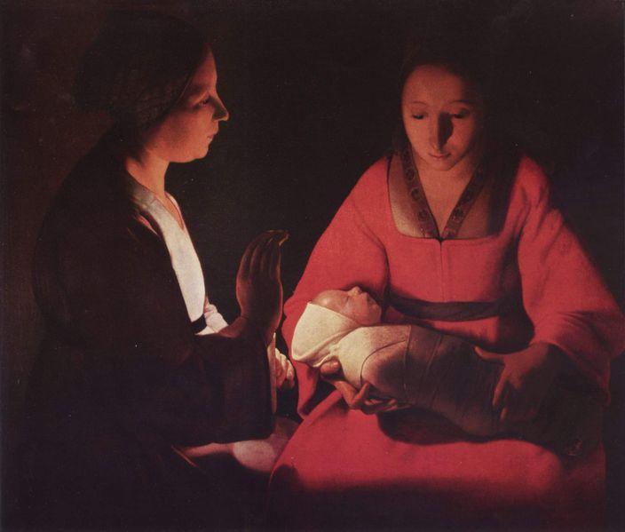 Jesus, Mary and Elizabeth by Georges de la Tour