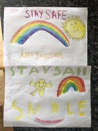 Posters to give positive messages to stay safe