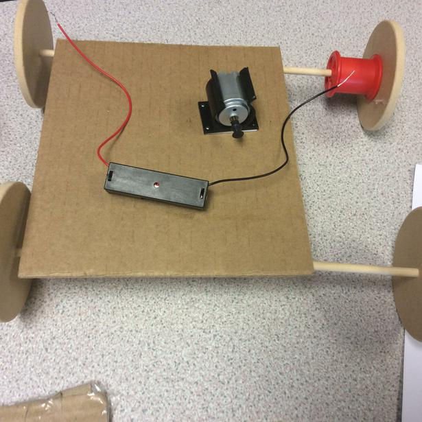 Investigating axle with larger pulley