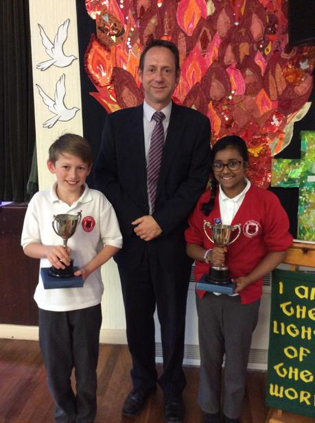 Oversby Winners - Sadiyah Akther and Michael Holt
