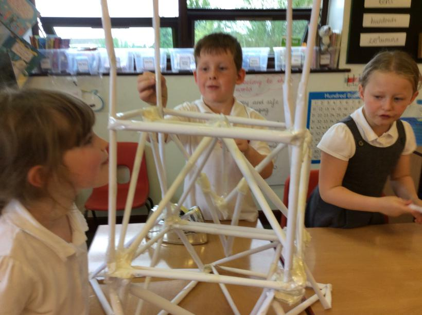 We noticed the real Eiffel is full of triangles