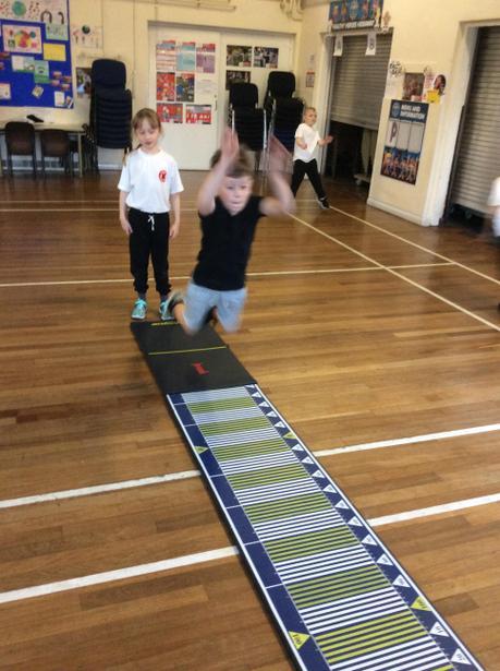 Standing jump for leg muslces