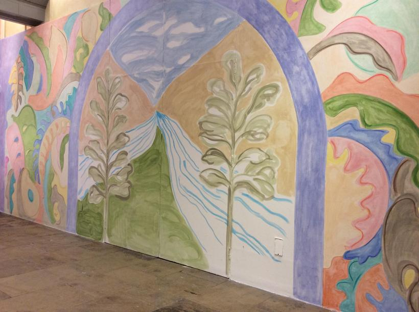 Giant murals of the journey