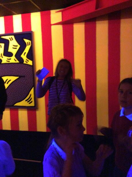 Having a boogie wth the florescent paintings