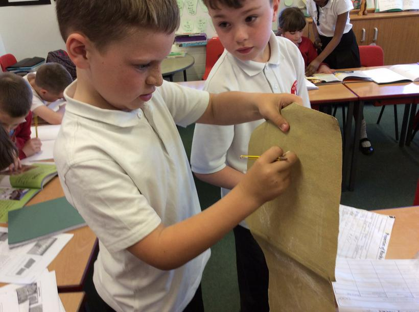 Using sandpaper to test its durability.