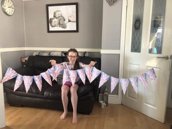 Home made bunting for a street party