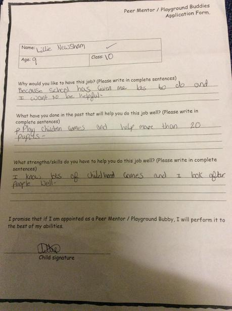 Examples of our application forms.