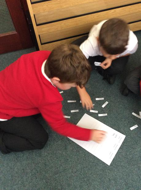 We've been sorting different types of adverbs!