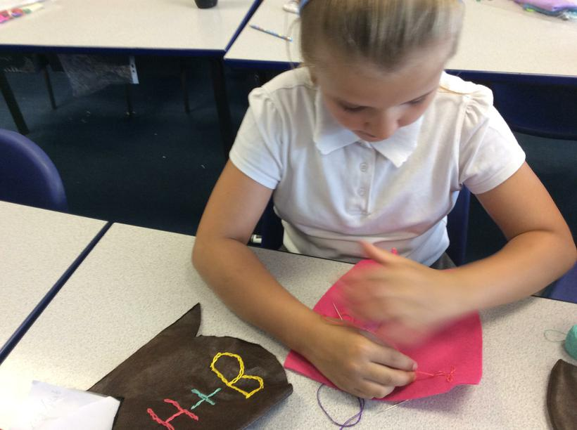 Mastering chain stitch and using as decoration