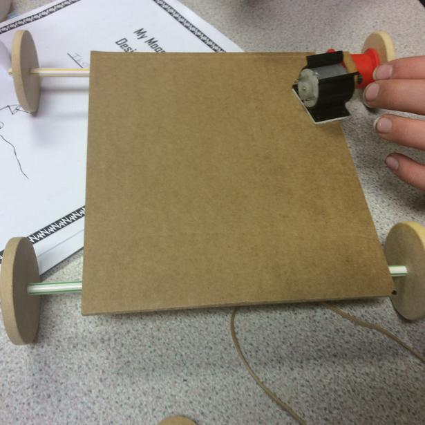 Exploring the position of motor and pulley