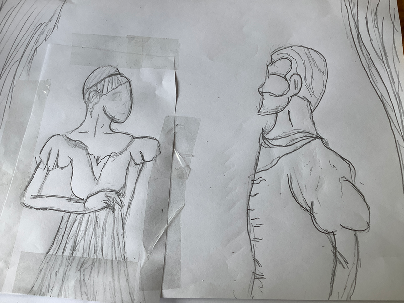 Kaitlin was inspired to create her own artwork of Romeo and Juliet at the masked ball
